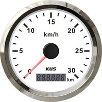 beach buggy cars - 85mm GPS speedometer velometer km h V V white faceplate for beach buggy car truck tractor