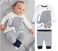 Wholesale Toddler Baby Boys Cartoon Clothes Long Sleeve Tops T Shirt Pants Outfits Sets