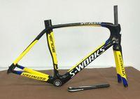 bike bicycle - road bike full carbon frame black yellow Accepted DIY carbon fiber road bike frame SIZE cm carbon frameset road bicycle frames