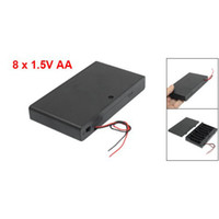 Cheap IMC Wholesale Two Wire Leads ON OFF Switch Black 8 x 1.5V AA Battery Case Holder Enclosed Box order<$18no track