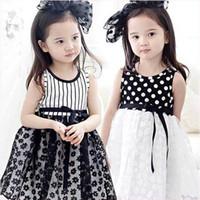 Summer american blossoms - 2015 New Girl Dresses Polka Dot Stripe Plum Blossom Gauze Sundress Summer Dresses T XQ506