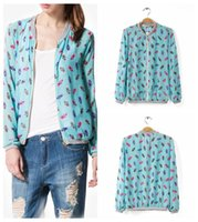 Wholesale Women jacket chaquetas mujer coat women Europe and America Pineapple pattern chiffon blouse Ted Women coat jackets veste femme