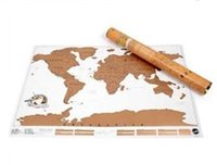 Wholesale New Arrival Scratch Map Personalized Scratch Off World Map Poster cm