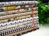 Wholesale 11Pcs x50cm Mixed Coffee Tilda Patchwork Cotton Fabric Home Textile Cloth Group for Tilda Cloth Crafts Handwork W02470