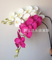 single flowers - Silk Orchids cm quot White Light Green Fuchsia Artificial Flowers Single Vanda Phalaenopsis Oncidium Home Decoration