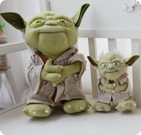 Wholesale Movie star war Master Yoda Mimion Master of wisdom Plush Toys Dolls Size Or Inches Chirstmas Gifts