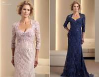 bags lilacs - New Arrival Long Sleeve Floor Length Chiffon and Free Lace Bolero Jacket Bag Mother s Dress