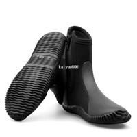 Envío Gratis Slip 5MM Buceo Zapatos Botas Hombres Snorkeling Remando Zapatos Pesca Zapatos impermeable Agua Caliente