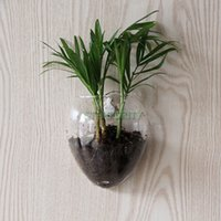 bamboo glass door - Wall Door Hanging Clear Glass Flower Vase Hydroponic Container Fish Tank Office Home Wedding Decoration