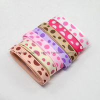 bag grosgrain - 7 Color Polka Dot Printed Grosgrain Ribbon Mixed Color mm about m color m bag