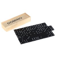 Wholesale 28 Pieces Domino Game Play Set Fun Board Game Party Toy with Wooden Box Good Educational Toy for Children Kids