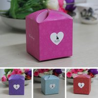 Wholesale Lovely Candy Box Hollow Heart White Cardboard Paper Wedding Boxes Gift Box Candy Box
