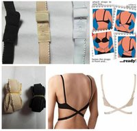 Wholesale Low Back Backless Adapter Converter Bra Strap Fully Adjustable Backless Extender low back bra strap DHL