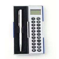Wholesale Handbag Pocket Size NewSilver Magic Pen And Calculator Set Stocking Teachers Gift Hot Selling