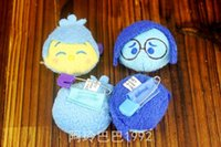 Wholesale Team play mind brain Inside out Q version of the cartoon stereo Plush Doll BROOCH BADGE single price