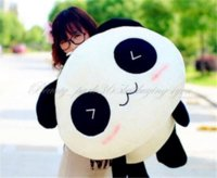 "Cheap Free Shipping 67CM 26"" soft Stuffed Plush Doll Toy Animal Giant Cute Panda Pillow Bolster Gift HG-0034 On Sale"