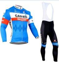 Wholesale Garmin Sportswear Mountain Bike Ropa Ciclismo Bicycle Wear Cycling Jersey clothing long sleeve jersey bib pants