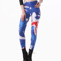 australia fitness - Women Leggings with Australia National Flag Punk Sport Leggings Designer Fitness Women Funky Sexy Jazz Dance Black Milk Clothing