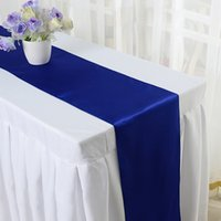 Wholesale Hotsale CM satin Dinner Table Runner Party Wedding Hotel Home Decoration colors Y1