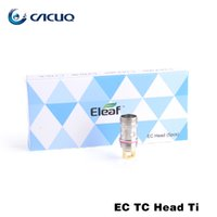 Eleaf CE Cabeza Melo 2 3 Tanque cabeza de bobina CE TC TI NI bobina 0.5ohm 0.15ohm original del 100% Orgánica de cabezas de espiral algodón