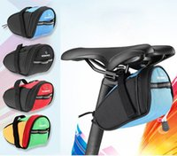 Wholesale Free DHL Roswheel Outdoor Cycling Mountain Bike Bicycle Saddle Bag Back Seat Tail Pouch Package For Moblie Phone Keys Money Collect