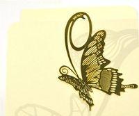 metal bookmark - 2014 new fashion plant cutout blade metal bookmark vintage gift box packing
