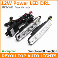 Cheap 10 LED led daytime running light Best White 12V led daytime running lamp