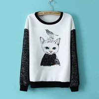 anima toppings - 2014 Direct Selling Full Casual Fleece Cotton Printed Sweatshirt for Anima Printing Top Sleeve Sweatshirts Wf