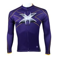 batman bicycle bike - High Quality Man Wolverine Batman superman Men Long Sleeve cycling jersey bicycle bike Rider clothing Apparel cycling clothes