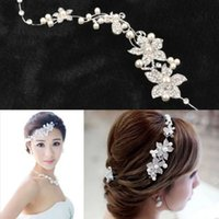 barrette jewelry - Fashion Wedding Bridal Headpiece Hair Accessories with Pearl Bridal Crowns and Tiaras Head Jewelry Rhinestone Bridal Tiara Headband Noiva