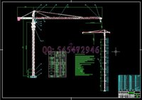 Wholesale TC6012 QTZ80 tower crane drawings Full Machining drawings ATUO CAD