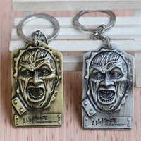 Wholesale New Statement Jewelry A Nightmare on Elm Street Charm Freddy Krueger Face Tag Keychains