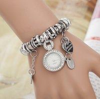 Wholesale df Women Vine Alloy Diamonds Pendent Bracelet Watches Infinity Twisted Watches Women Bracelet Watches Quartz watches Wrist Watches