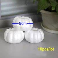 foam pumpkins - 8cm Bag of DIY Halloween Pumpkin Painted Foam Styrofoam Ball Simulation Egg Kindergarten Promotional Material