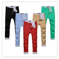 Wholesale Cargo Pants For Boys - Men Ankle-length Casual pants skinny joggers Cotton jean pants Male pantalones hombre emoji joggers for boys mens cargo pants