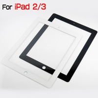 Wholesale Glass Lens For iPad ipad3 front glass screen Cover Replacement Parts ForFor Apple iPad2