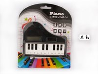 Wholesale colors pocket music note piano keys calculator solar calculator electronic gifts