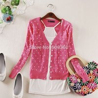 Wholesale fashion women girls coat small love heart printed sweater cardigan knitted coat order lt no tracking