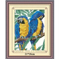 Wholesale D Diy Handmade Diamond Painting Embroidery Needlework Rhinestone Full Pasted Picture Square Drill Resin Parrots