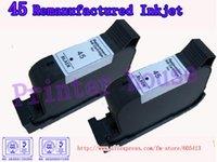 Frete Grátis por DHL / EMS !! Atacado cartuchos remanufaturados para HP 51645A 45 cartuchos jato de tinta (10PCS / lot)