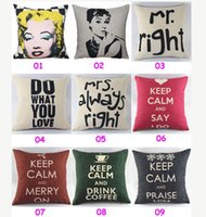 Wholesale Noble Linen Cotton Print Cushion Cover Home Decor Throw Pillow Case Styles