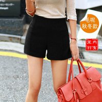 Wholesale Cheap Womens Winter Clothing - Wholesale-winter casual shorts feminino wool high waist shorts women cheap clothes china womens tops fashion 2016