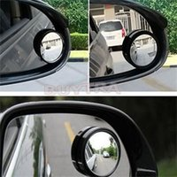 Wholesale 2 Car Vehicle Blind Spot Dead Zone Mirror Rear View Mirror Small Round Mirror Auto Side Wide Angle Round Convex Mirror