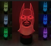 Wholesale 2016 new D ABS base batman Night Lights LED touch switch table lamp fashion Sleep night light RK7435