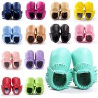 Wholesale 18 Style Baby PU Leather Shoes Moccasins Soft Shoe freshly picked Handmade Camouflage Tassel Toddler Prewalker K051