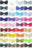 Wholesale Pure color flash bowties men s formal ties man bow ties women lady bowtie tie for Business suits