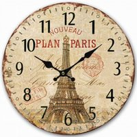 best antique furniture - Gift Antique Style Eiffel Tower Wooden Wall Clock Furniture And Furnishings The Best Gift Modern Design