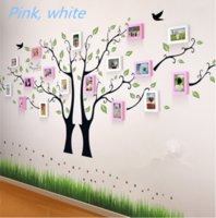 Wholesale 17 Box Double Tree Korean Combination Frame Wood Big Household Adornment Metope Special Creative Personality And Fresh Photo Wall Free DHL