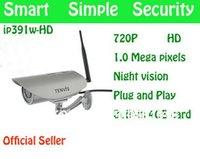 Wholesale Tenvis Outdoor IP391W HD IP Cam Wifi Wireless P2P CCTV P H HD Megapixel Camera IR Cut Support NAS Dropbox