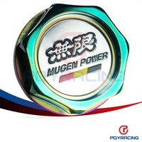 Wholesale PQY STORE NEO CHROME MUGEN POWER EMBLEM TWIST ON ENGINE OIL FILLER CAP BADGE FOR HONDA ACURA PQY6316CR